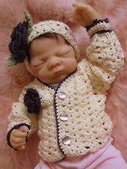 Crochet Clothing Downloads - Aggie Baby Sweater & Headband  Love this for the newbaby girl in our family.