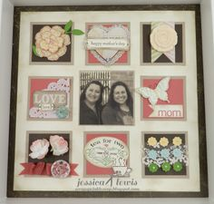 Mother's Day collage frame using the Artisan Embellishments Kit from Stampin' UP!