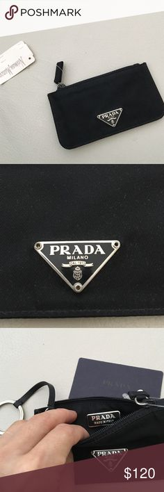 """Authentic Prada Keychain wallet Size: 5"""" X 2 1/2"""". Brand new comes with tag and authentic card. Prada Bags Wallets"""