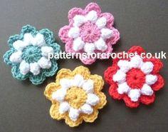 Popcorn Flower Motif Free Crochet Pattern from Patterns for Crochet