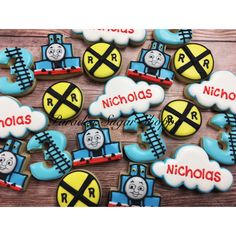 Thomas the Train decorated cookies by Paradise Sugar Shoppe