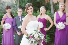 pretty purple bridesmaid dresses  | J + B | Kelly Hancock Event Planning www.kellyhancockevents.com | Blue Lane Studios