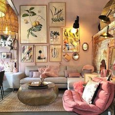 Amazing Boho Living Room Décor Ideas On A Budget 48 - Modern Living Room ideas - Boho Living Room Decor, Living Room Designs, Living Spaces, Bedroom Decor, Design Bedroom, Decor Room, Wall Decor, Hygge, Home And Living