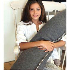 Felt Bolster Cushion in Charcoal Grey