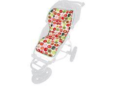 Schicke Sommer-Sitzauflagen für Babyschalen, Kinderwagen und Buggys gibt es von Liebes von Priebes.