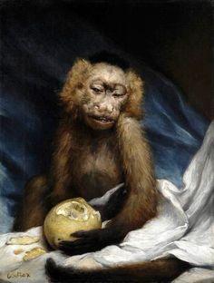 Monkey with lemon - Gabriel Cornelius Ritter von Max Gabriel, Dutch Artists, Great Artists, Muse Kunst, Inspiration Artistique, Pet Monkey, Muse Art, Great Paintings, Cornelius