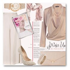 """Wake Up"" by only1gigigirl ❤ liked on Polyvore featuring Topshop, H&M, Honora, Accessorize, Anne Klein, Casadei, Versace, M.A.C and WALL"