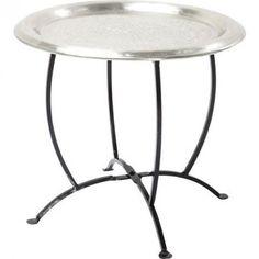 Magnifique table d'appoint au style marocain  Table d'appoint Oasis argentée 45 cm Kare Design