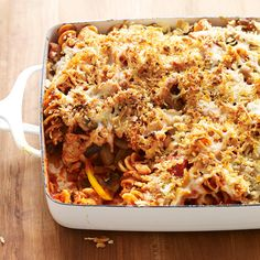 Weight Watchers Chicken Sausage, Mushroom and Pasta Casserole. I think instead of using Chicken Sausage I would just use Shredded Chicken Breast Healthy Recipes, Skinny Recipes, Ww Recipes, Vegetarian Recipes, Chicken Recipes, Dinner Recipes, Cooking Recipes, Recipe Chicken, Cookbook Recipes