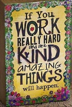 """Work hard """"Do more of what makes you happy"""" quote via www.Facebook.com/PositivityToolbox"""