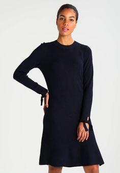 4a2266d0fd LONG SLEEVE TIE - Sukienka dzianinowa - navy blue. Materiał 80
