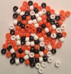 Halloween Mix Pony Beads Hair Beads, Pony Beads, Slime, Black And White, Orange, Halloween, Bead, Black N White, Black White
