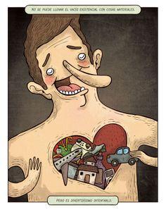 Y los hay en abundancia... :( Ilustración de Alberto Montt.