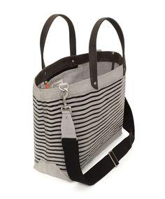 Jack Spade | Stripe Printed Coal Bag