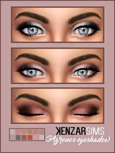 Kenzar Agronos eyeshadow*Comes in 12 colors. *Tag me if you use it I hope you like it ! ^-^ Download eyeshadow(Simfileshare) Download eyeshadow(Mediafire)