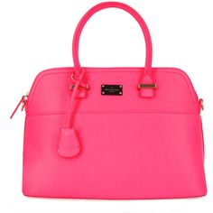 Maisy handheld bag Matte Fluro Pink ($133) ❤ liked on Polyvore featuring bags, handbags, neon handbags, neon pink bag, neon pink purse, neon bags and neon purse