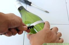 How to Cut Wine Bottles for Crafts: 14 Steps (with Pictures) Old Wine Bottles, Recycled Bottles, Recycled Glass, Bottle Cutter, Glass Cutter, Spin The Bottle, Bottom Of The Bottle, Cutting Glass Bottles, Clean Break