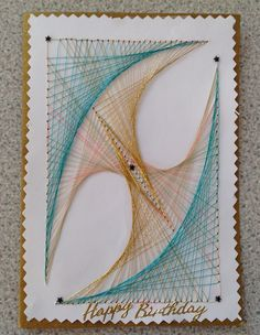 String art by George. Class led by Penny and Joan.  October 2014.