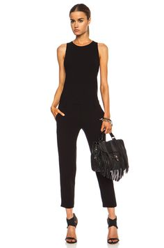 IRO|Cherley Acetate-Blend Jumpsuit in Black