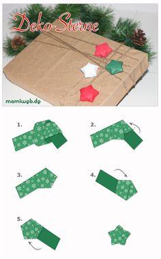 Origami Stern Bastelanleitung