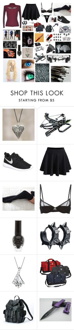 """""""My walking dead outfit 2"""" by gam-gam ❤ liked on Polyvore featuring NOVICA, Barnett, NIKE, WithChic, Valerie, Maison Close, Everest and Frye"""