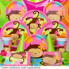 monkey birthday party ideas for girls - Google Search