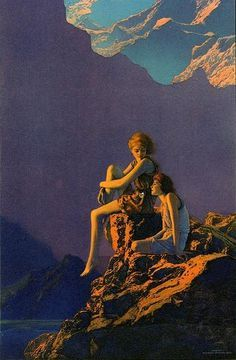 touching the moon maxfield parrish - Google Search