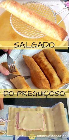Receita de Salgado delicioso! Super rápido e fácil de fazer! Faça para um lanche delicioso! #receita #lanche #salgado #comida #culinaria #chef #gastronomia #manualdacozinha #aguanaboca