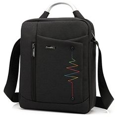CoolBell 124 Inch Shoulder Bag Briefcase Hand Bag Nylon Messenger Bag Case For 12Inch New Macbook  116Inch Macbook  Ultrabook  Tablet  MenWomenTeens BusinessBlack ** Be sure to check out this awesome product.