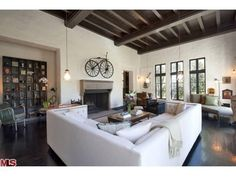 Sheryl Crow Asking $16MM for Hollywood Hills property.  Notice the bike over the fireplace.  More pics on Celebrity Real Estate - Curbed LA
