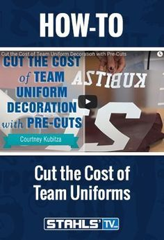 If you're in the team and league business, the goal is to bring low-cost, high-quality solutions to your customers. In this video, using a mix of pre-cut letters and numbers and cutting your own heat transfer material, Stahls' TV educator Courtney Kubitza