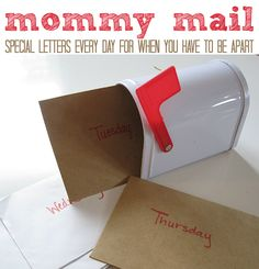 Mommy Mail by notimeforflashcards: Super cute idea to stay connected and ease separation anxiety when you and your kids have to be apart. { How do you deal with business trips or other times when you must leave your kids and there is anxiety?} #Mommy_Mail