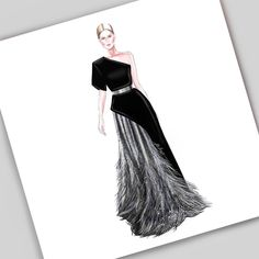 Fashion Sketches Model Haute Couture Ideas For 2019 Dress Design Drawing, Dress Design Sketches, Fashion Design Sketchbook, Fashion Design Drawings, Dress Drawing, Fashion Sketches, Art Sketchbook, Arte Fashion, Moda Fashion