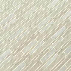 Add a smart appeal to your living space by selecting this MSI Snowcap Blend Interlocking Multi-Surface Mesh-Mounted Mosaic Tile. Convenient to handle. Gray Kitchen Backsplash, Shower Backsplash, Mosaic Wall Tiles, Marble Mosaic, Basalt Stone, Marble Polishing, Mosaic Patterns, Mesh