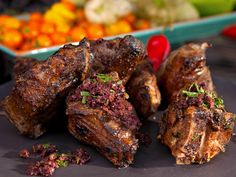Grilled Lamb Chops with Olive Tapenade Recipe : Guy Fieri : Food Network - FoodNetwork.com