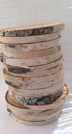 Make some pretty coasters with some beautiful Alaskan Birch! 6 slices Alaska paper birch wood supplies DIY by ptarmagintrax, $6.00