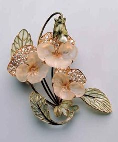 Lalique Pansy Brooch