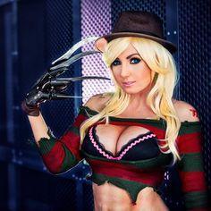 "Jessica Nigri  on Instagram: ""My Kotobukiya Freddy costume! I made this because @abbydarkstar said ""HEY GURL BE THE SEXY FREDDY TO MY SEXY JASON."" And when Abby asks, you do. """