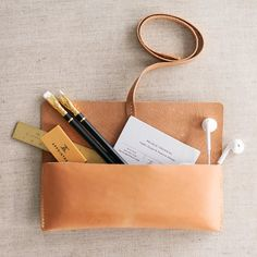 Vegetable Tanned Leather Pencil Case