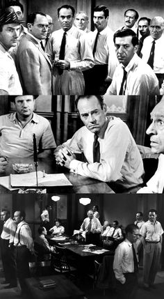 """12 Angry Men"" // One of the all time great movies. Done so well you forget 95% of the movie occurs in one room."
