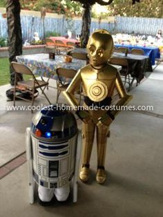 Homemade C3PO and R2D2 Couple Costume