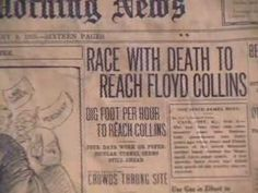The true story of Floyd Collins, a Kentucky man who was trapped in Mammoth Cave and later died there. Floyd Collins, Cave City, True Stories, Kentucky, Fitness, Youtube, Youtubers, Youtube Movies
