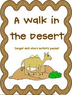 A Walk in the Desert Activity Packet! Preschool Themes, Classroom Themes, Classroom Activities, Desert Crafts, 2nd Grade Ela, Second Grade, Desert Art, Desert Ideas, Desert Biome