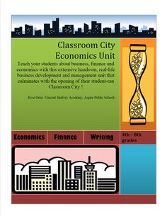 Money skills, need vs. want, saving, spending and investing, banking, etc. This year long unit interactive unit lets students learn firsthand what it is like to run a small city. Their final project is creating businesses and running a classroom city for a week....