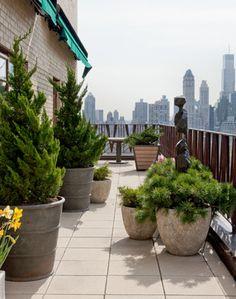 Central Park West Apartment contemporary patio