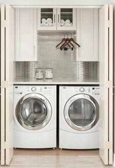Waschmaschine in der küche verstecken  Geschickt die Waschmaschine im Badezimmer verstecken | Bad Design ...