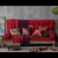 I really like all these colors together and my living room is already grey!!