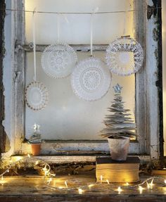 In the spirit of @reclaimmag we salvaged this old window (carefully brought inside keeping the cobwebs, leaves and decayed charm intact) to create the festive window scene in the Making Christmas feature I co-styled with the wonderful @tamsynmorgans - Photographed by the amazing @janiceissitt_life_style Inspiration for the book page Glitter Trees came from Scandi Christmas, a brilliant book written by my gorgeous friend Chris Myers aka @thecozyclubx #scandinavianstyle #scandinavianhomes…