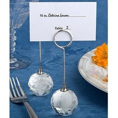5pcs Clear Diamond Crystal Name Number Table Place Card Holder For Wedding Party Holiday Venue Decoration New Arrival Event & Party Home & Garden