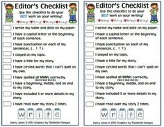 Editors Checklist for Writing from ChangeTheStation on TeachersNotebook.com -  (1 page)
